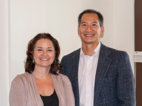 Beth Farmer and District Representative Linh Thai