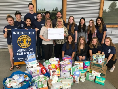 AHS Interact Club with Erin - Peggy